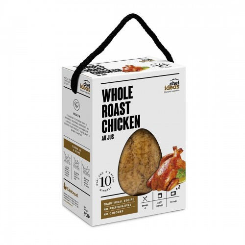 Whole Roasted Chicken in Cooking Juice