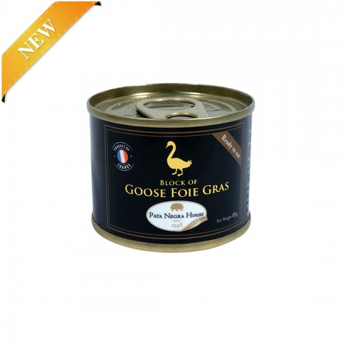 Block of Goose Foie Gras in cylindrical tin 65g